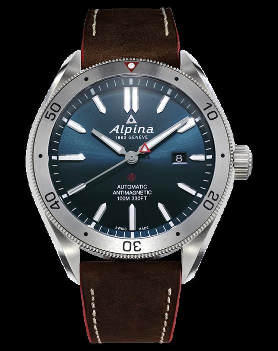 Alpina Alpiner Automatic 4 Blue Dial Brown Strap (ref. AL-525NS5AQ6)