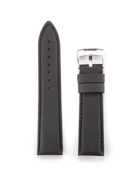 Alpina Genuine Leather Technical Strap 22mm Black (ref. ALS-LCBLACK22X20)