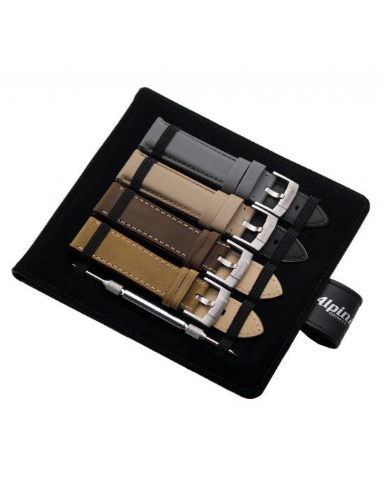 Alpina Gents Strap Set (ref. AL-STRAPSET-4S) contains four watch straps in different colours