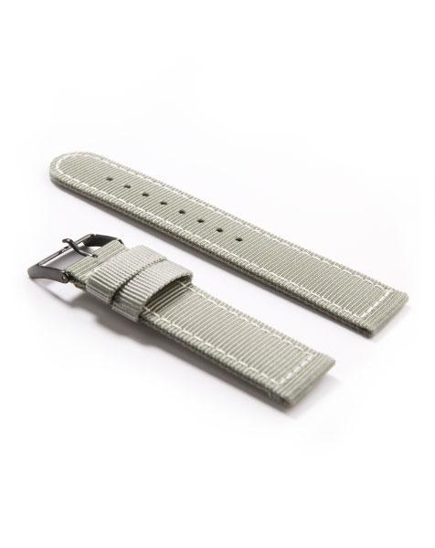 Nylon Watch Strap Alpina Startimer Pilot Quartz Grey